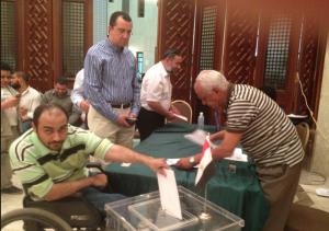 اثناء الادلاء بصوتى فى السفاره فى الرياض رغم الطابور الطويل